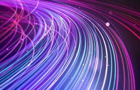 抽象炫丽唯美紫色线条粒子led背景视频素材
