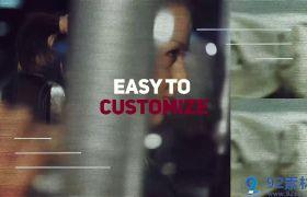 时尚动感抖音节奏切图效果健身运动宣传片展示AE素材