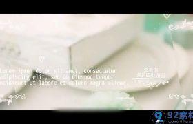 浪漫唯美白色铅笔画点缀结婚典礼开场视频AE素材