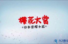 唯美浪漫三维花瓣飞舞点缀赏樱自由行春季旅游活动宣传片AE素材