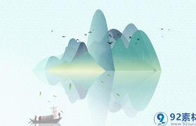 清新唯美中国风水墨晕染点缀清明节文化宣传视频展示AE素材