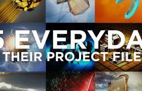 125个C4D精品高级创意动画工程文件EVERYDAYS PROJECT FILES