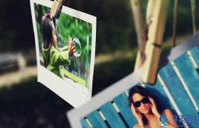 现代时尚自然清新实拍背景家庭电子相册照片展示AE素材