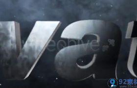 震撼大气星空背景三维金属质感字幕LOGO开场展示AE素材