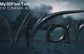 C4D自定義3D文字字體腳本預設 My3DFontTool V1.0 Cinema 4D