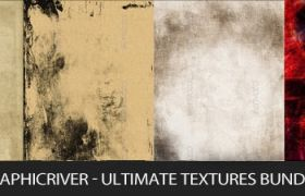 C4D材質下載 羊皮紙劃痕材質 GraphicRiver-Ultimate Textures Bundle