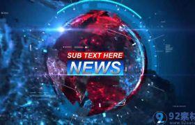 高端大气未来科技感3D新闻电视节目包装开场AE素材