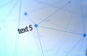 蓝色简洁科技感点线链接文本动画模板