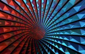 VJ彩色炫丽闪光隧道穿梭4K动态视频素材