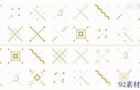 金色时尚创意图形元素图文视频包装动画模板