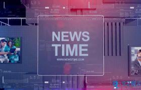 高端大气三维科技感背景新闻电视栏目开场包装AE素材