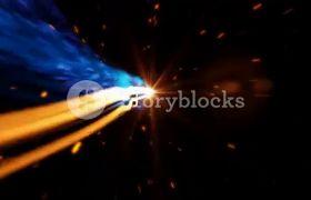 大气炫酷光线运动粒子logo片头动画模板