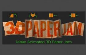 AE脚本:纸张折叠翻转MG动画 Aescripts 3D Paper Jam V1.2+使用教程
