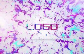 炫彩创意三维油墨泼洒显现特效点缀LOGO标志开场展示AE素材