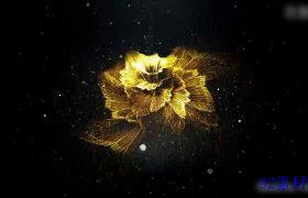 AE素材 高端大气炫丽金色粒子展示图片广告动画模板