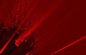 抽象红色光线泄露扫描光VJ循环视频素材