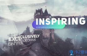 时尚现代三维视觉感笔刷涂抹特效点缀图文展示宣传视频AE素材