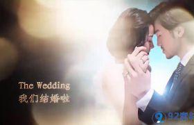 华丽高端金色唯美光晕点缀婚礼图文展示视频包装开场AE素材