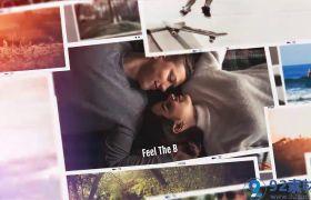 简约时尚现代感三维旅行纪念相册视频包装展示AE素材