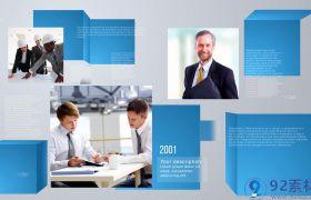 简洁大气三维公司历程图文展示企业商务宣传片AE素材
