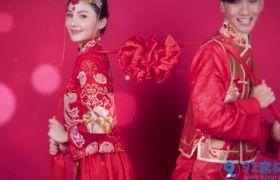 温馨喜庆红色经典中国风婚礼相册展示视频包装开场AE素材