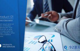 高端简洁三维空间效果点缀企业商务图文介绍宣传片AE素材