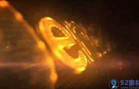 创意炫酷霓虹光圈汇聚拼合显现活动LOGO标志开场AE素材