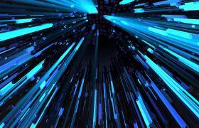 4K抽象三维空间线条动态VJ背景视频素材