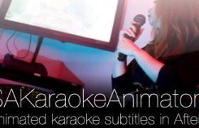 AE�_本:卡拉OK�L�痈柙~文字�祟}唱�~�应禺� pt_SSAKaraokeAnimator v3.22 + 使用教程