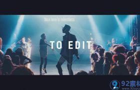 炫酷潮流鼓点节奏感图文快闪活动宣传视频展示AE素材