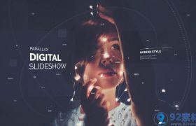 时尚科技现代感三维视觉特效图文展示宣传片AE素材