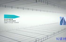 AE素材 简洁商务企业排列图文展现宣传动画模板