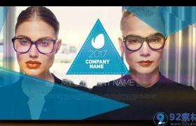 时尚活泼三维视觉效果点缀创意公司图文展示宣传片AE素材