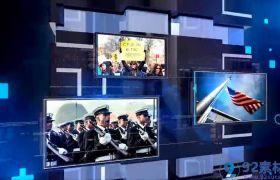 震撼三维现代科技感新闻电视栏目包装图文开场展示AE素材