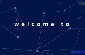 AE素材 简约商务蓝色科技感线条背景宣传动画模板
