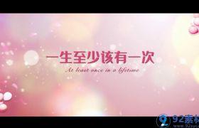 清新歡快粉嫩玫瑰花瓣漂浮點綴520為愛告白視頻包裝AE素材