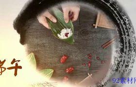 AE素材 中国风水墨传统端午节图文宣传片头模板