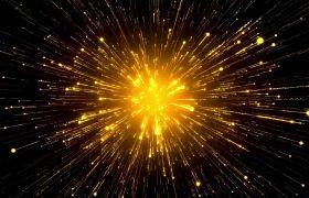 炫丽大气金色粒子发散晚会舞台背景视频素材