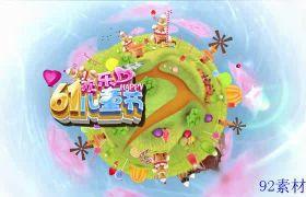 卡通动画演出节目包装字幕条开场六一儿童节ae模板