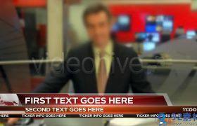 高端现代科技感动态新闻电视栏目字幕条包装AE模板