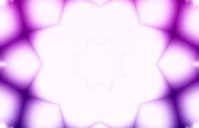 紫色动感炫酷五角星图形变化舞台led视频素材