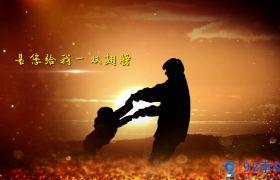唯美动人金色粒子点缀图文展示宣传片感恩父亲节AE模板