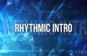 炫酷动感三维拉伸切图效果字幕标题包装文字宣传片AE模板