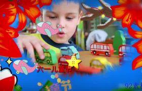 欢乐六一儿童节卡通动画相册ae模板