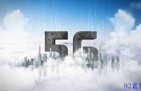 科技感E3D立体大气云端展示5G数据宣传ae模板