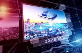 高端三维科技线条点缀公司图文展现商务宣传片AE模板