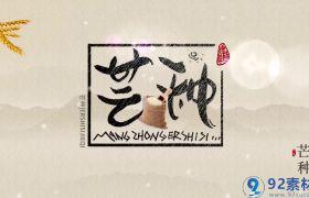 经典传统丝绸粒子穿梭点缀中国风芒种宣传片AE模板