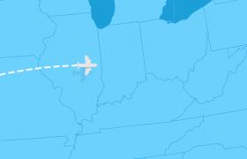 平面化世界地图出发到达标记AE模板