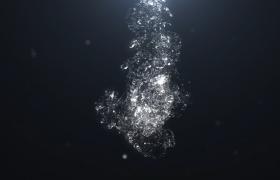 动态水粒子特效logo AE模板