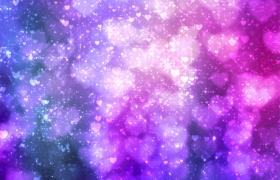 心形紫色�艋瞄W�q星光背景��l